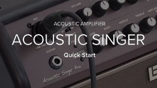 Acoustic Singer Quick Start Video