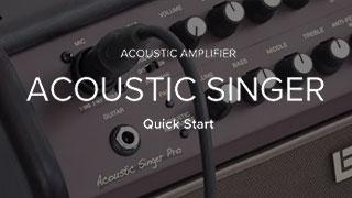 Acoustic Singer Hızlı Başlangıç Videosu