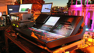 Roland M-5000 and M-5000C Digital Consoles multi-tasking at the CERES Award Ceremony