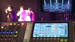 Roland V-Mixing System on The Sing-Off Live Tour