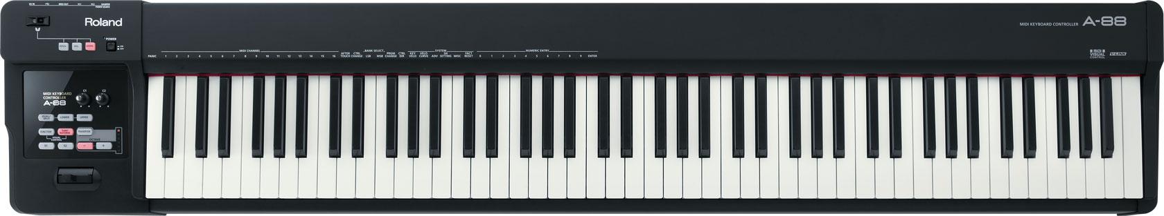 a-88 CONTRÔLEUR MIDI PORTABLE AVEC UN CLAVIER DE PIANO À QUEUE