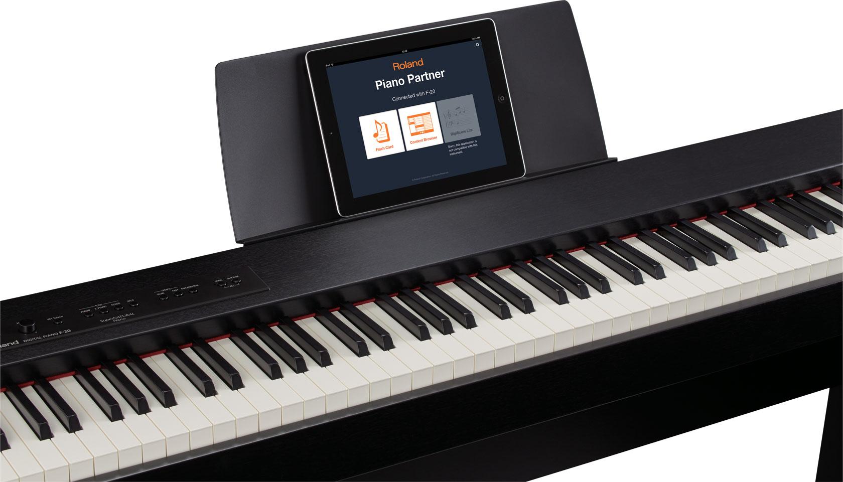 roland f 20 digital piano. Black Bedroom Furniture Sets. Home Design Ideas