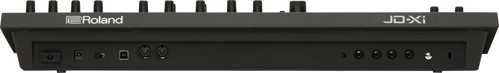 roland jd-xi analog digital synthesizer rear view