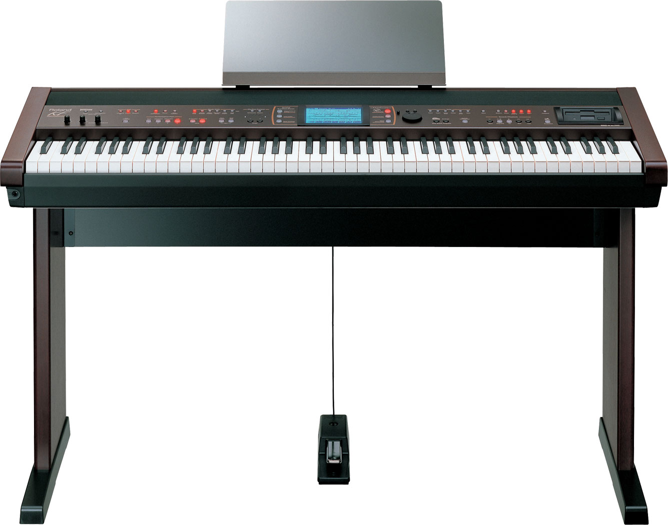 roland kf 7 digital intelligent portable piano. Black Bedroom Furniture Sets. Home Design Ideas