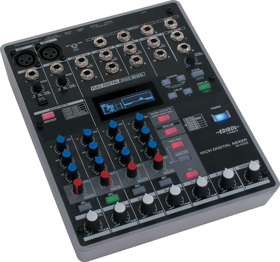 roland m 10dx 10 channel digital mixer. Black Bedroom Furniture Sets. Home Design Ideas