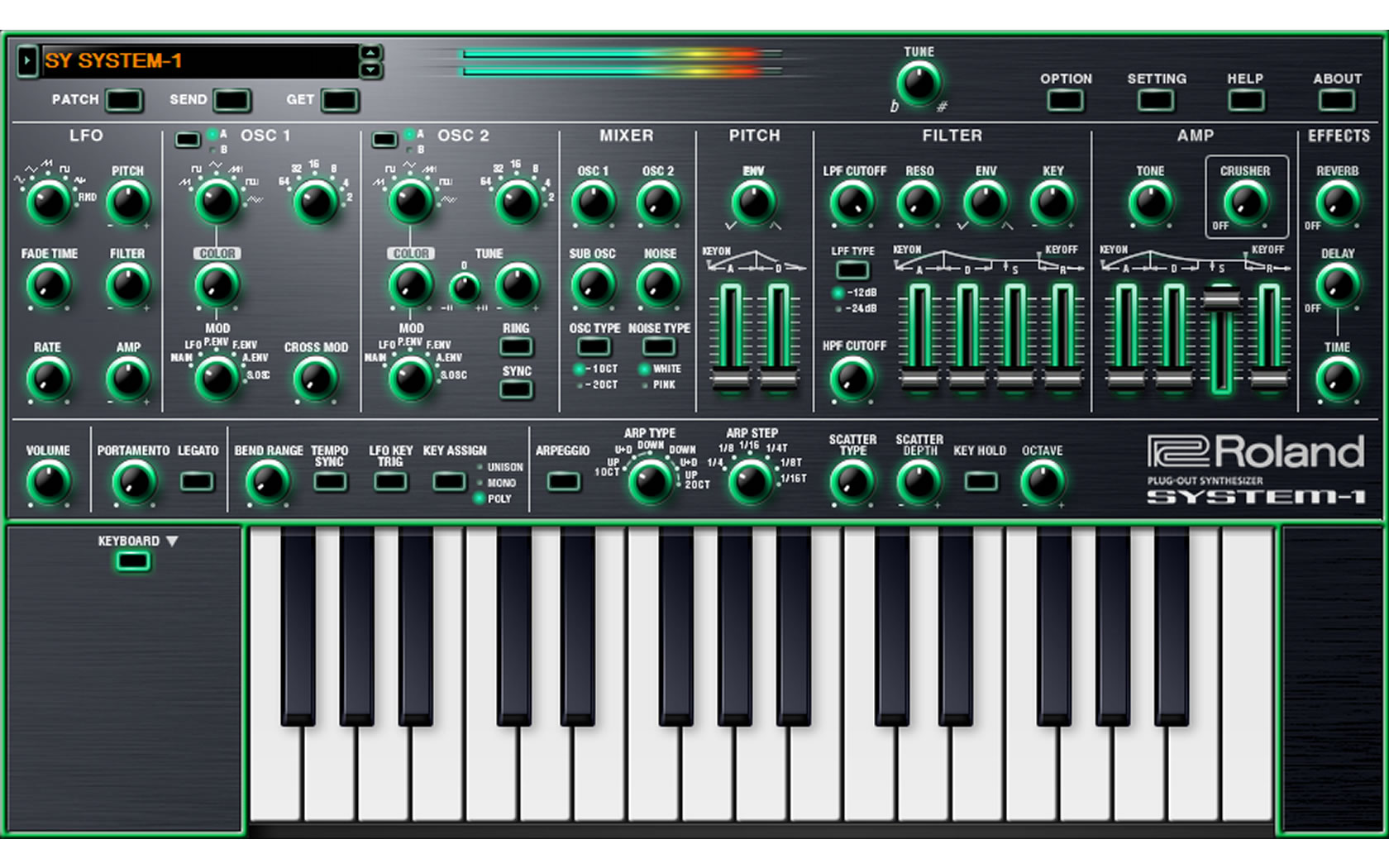 Roland System 1 Software Synthesizer Software Synthesizer