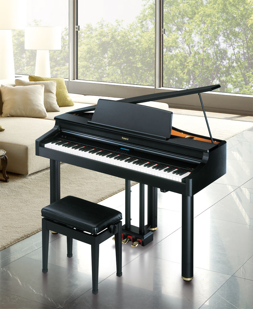Roland rg 1 digital mini grand piano for How big is a baby grand piano