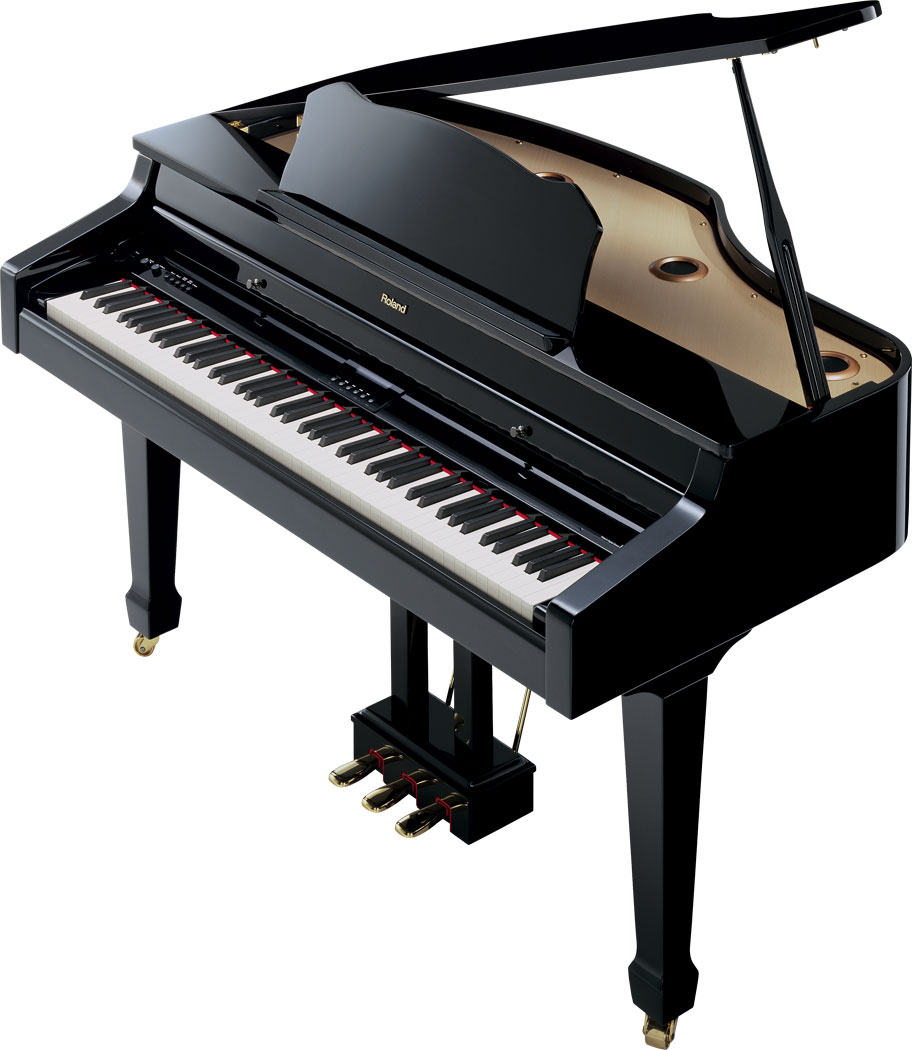 Roland rg 3 digital mini grand piano for Size of baby grand piano
