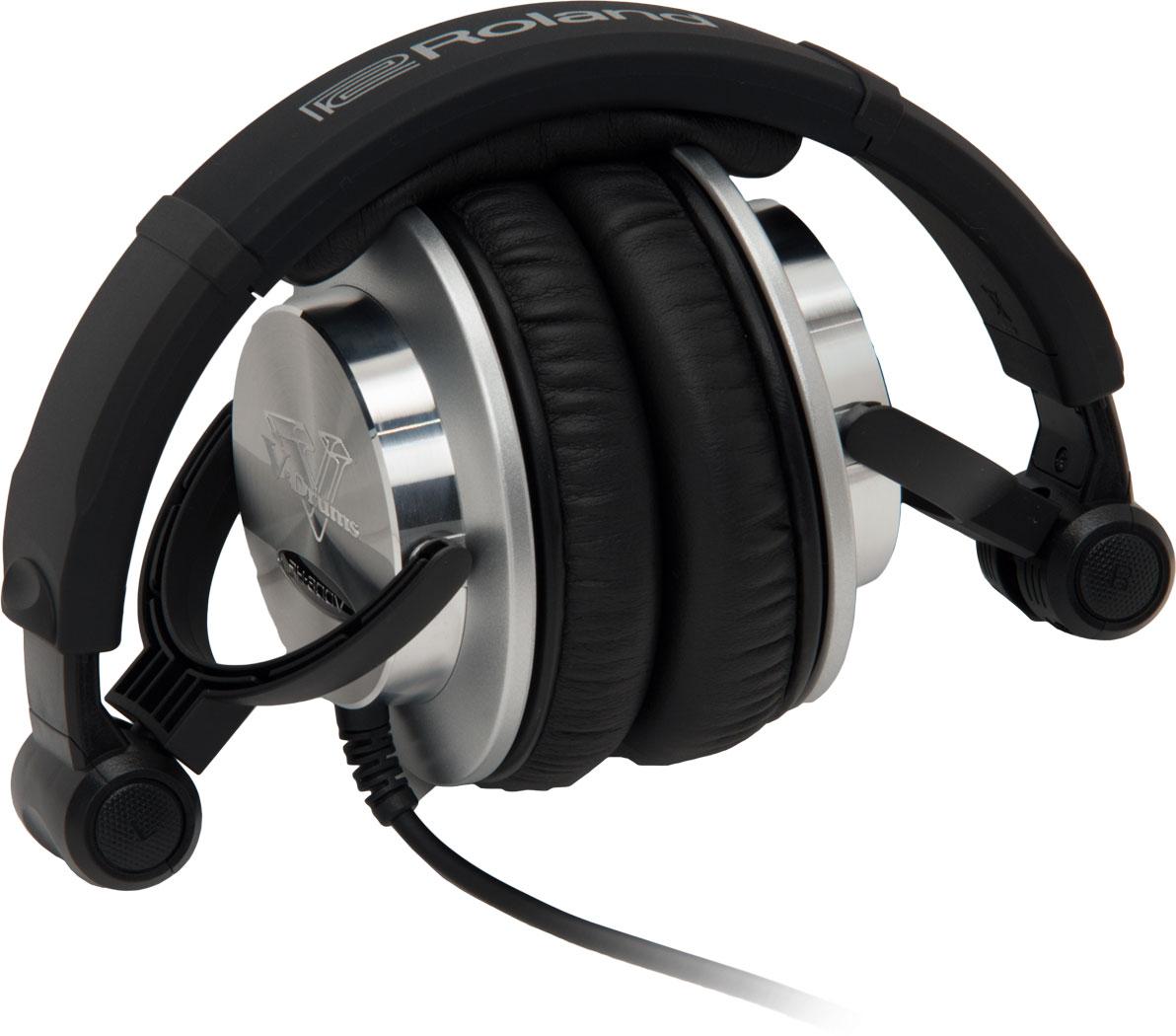 roland rh-300v v-drums headphones folded