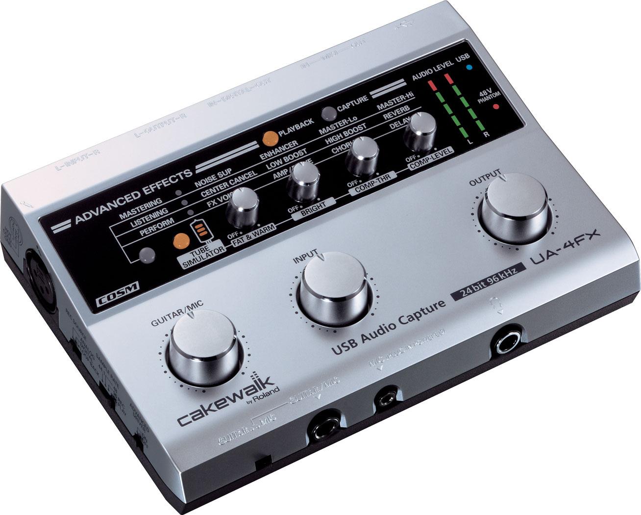Roland - UA-4FX   USB Audio/MIDI Interface on audio cable, audio editing software, audio coding 3, audio files, audio playlist, audio maker,