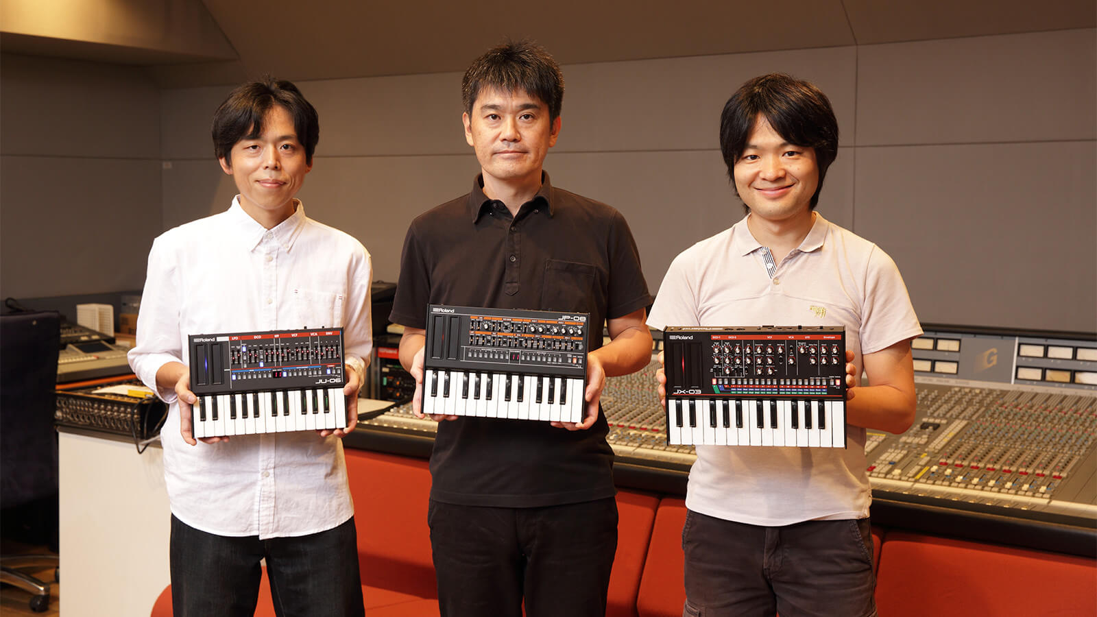 From left to right: Masato Ohnishi, Takeshi Tojo, and Hirotake Tohyama.
